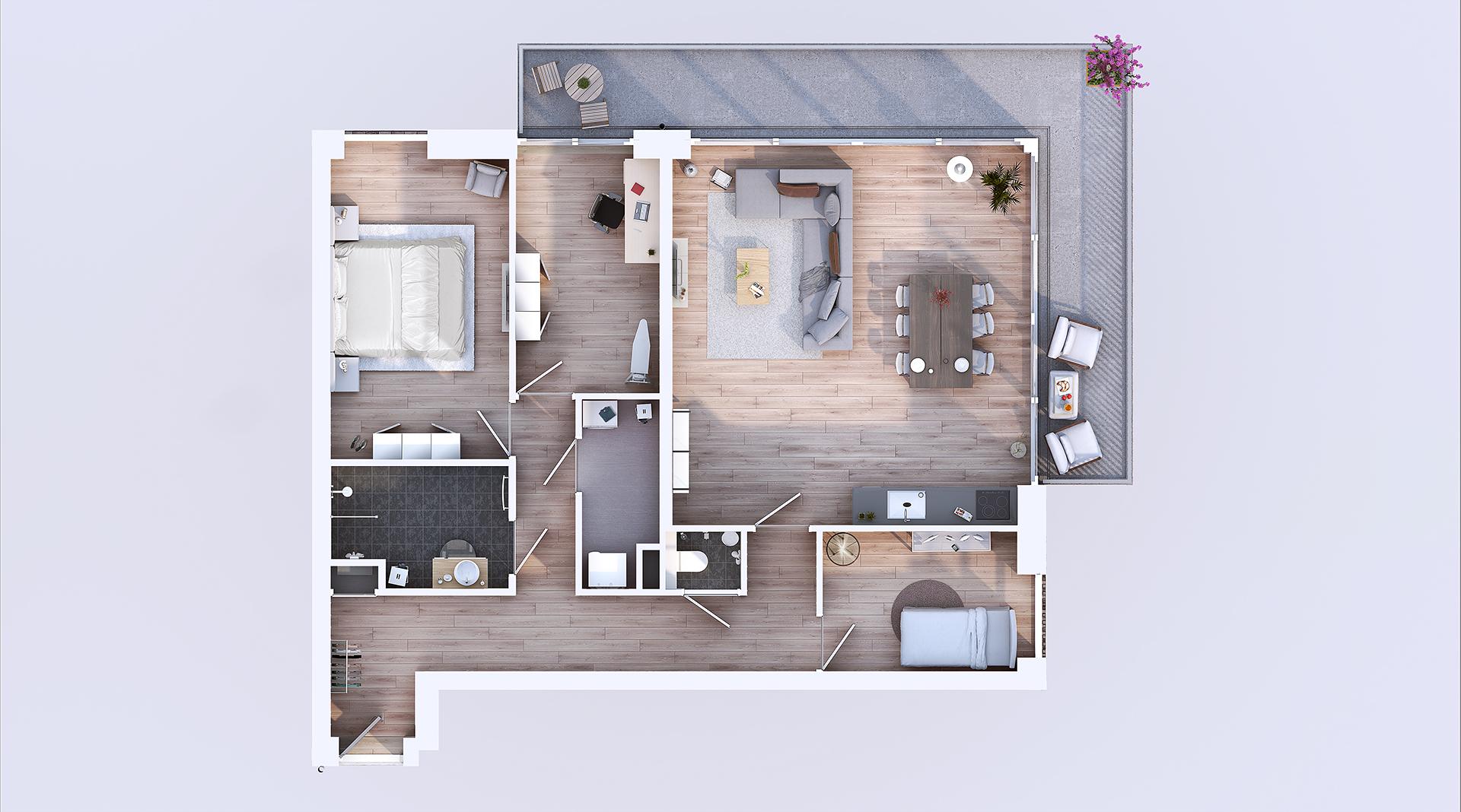 Plattegrond Appartementen Complex